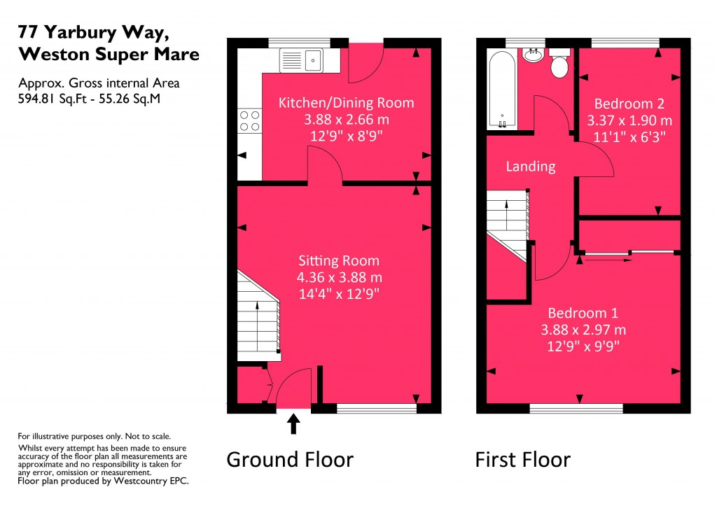 Floorplan for Yarbury Way, Locking Castle East - GREAT FIRST TIME BUY