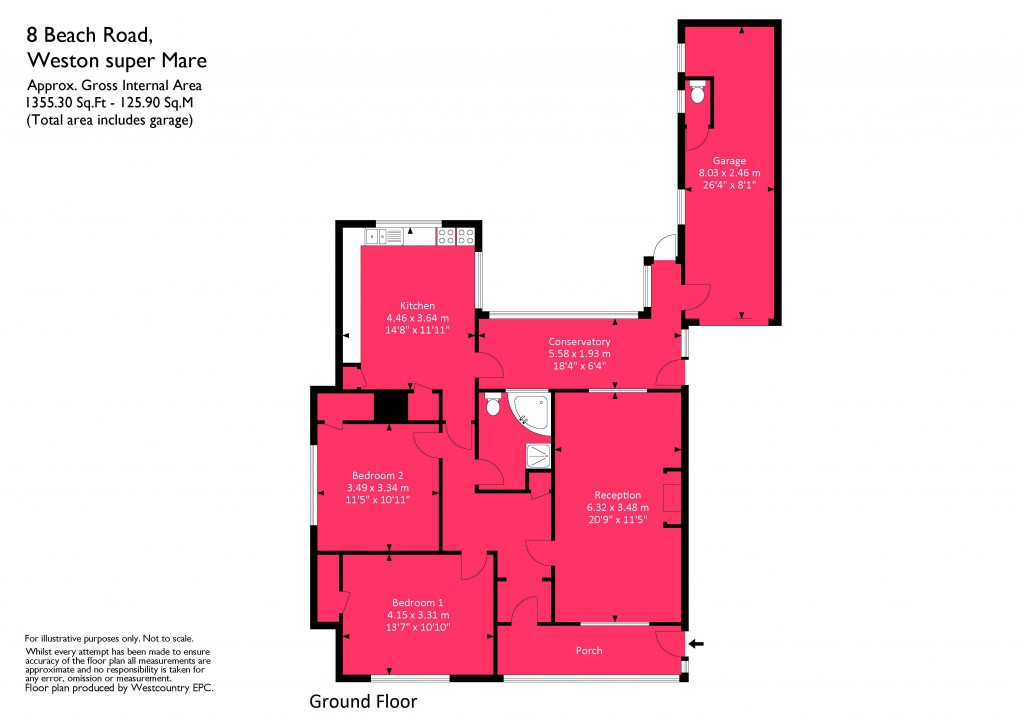 Floorplan for Beach Road, Sand Bay - BEACH FRONT LOCATION