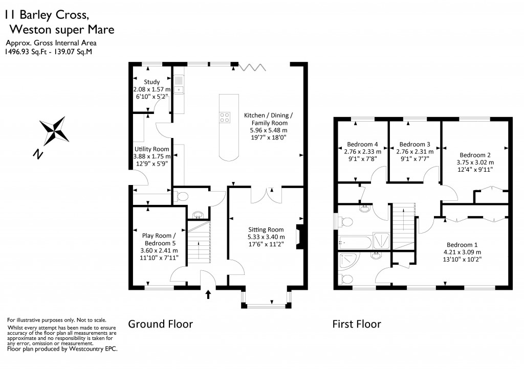 Floorplan for Barley Cross, Wick St Lawrence - OUTSTANDING EXTENDED HOME