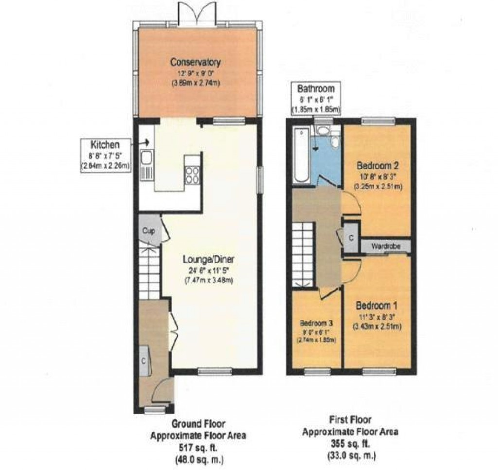 Floorplan for Abbots Close, Worle - FANTASTIC 3 BED SEMI