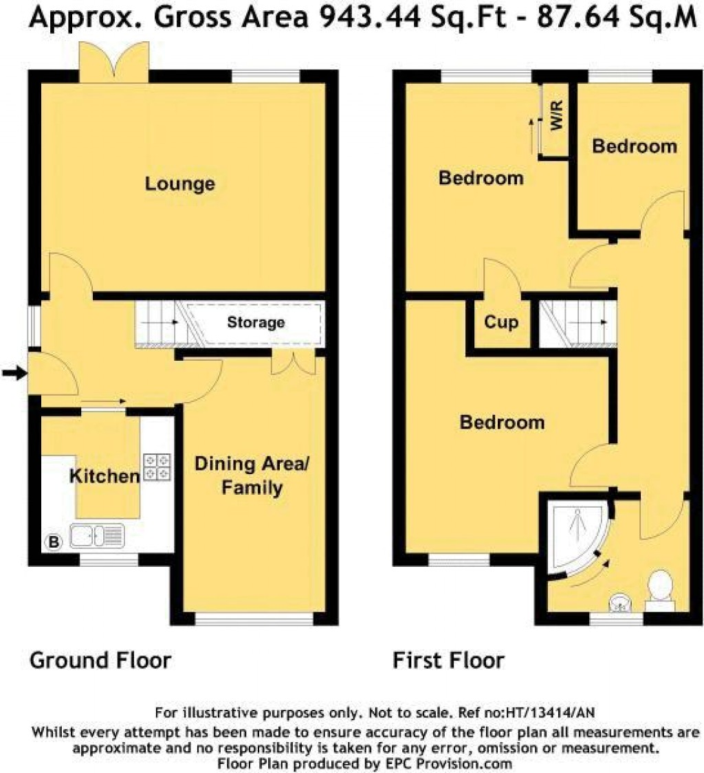 Floorplan for Locksbrook Road, North Worle - EXCEPTIONAL SEMI