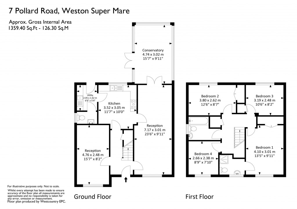 Floorplan for Pollard Road, Weston Village - QUIET ROAD