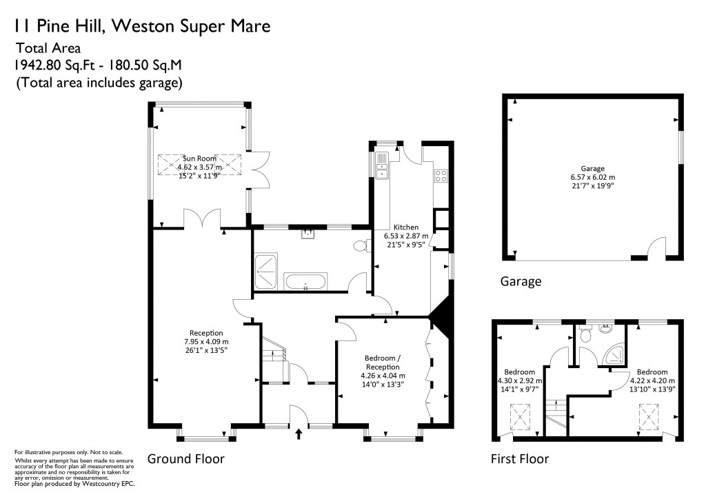 Floorplan for Pine Hill, Worle Hillside - FABULOUS DETACHED HOME