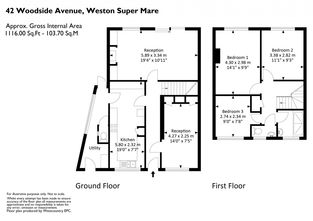 Floorplan for Woodside Avenue, Woodside - SMART EXTENDED SEMI