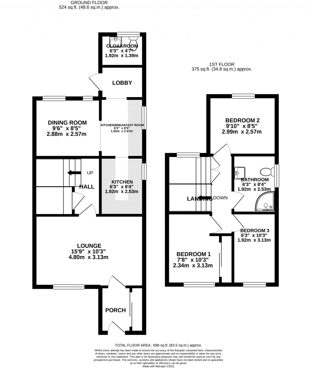 Floorplan for Greenhill Close, Worle - SUPERB EXTENDED HOME