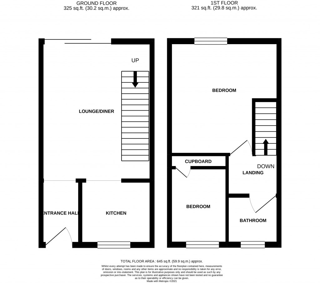 Floorplan for Saxby Close, North WORLE - PERFECT FIRST TIME BUY
