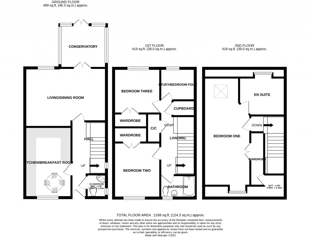 Floorplan for Bransby Way, Locking Castle - EXCEPTIONAL TOWN HOUSE + 2 GARAGES