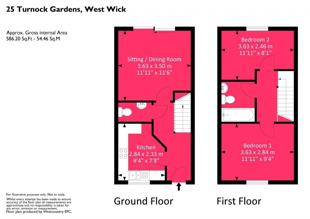 Floorplan for Turnock Gardens, West Wick