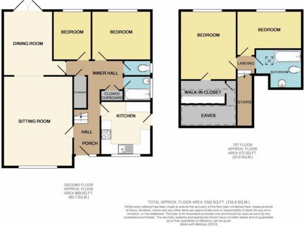 Floorplan for Sand Road, Sand Bay - 4 BED DORMER BUNGALOW