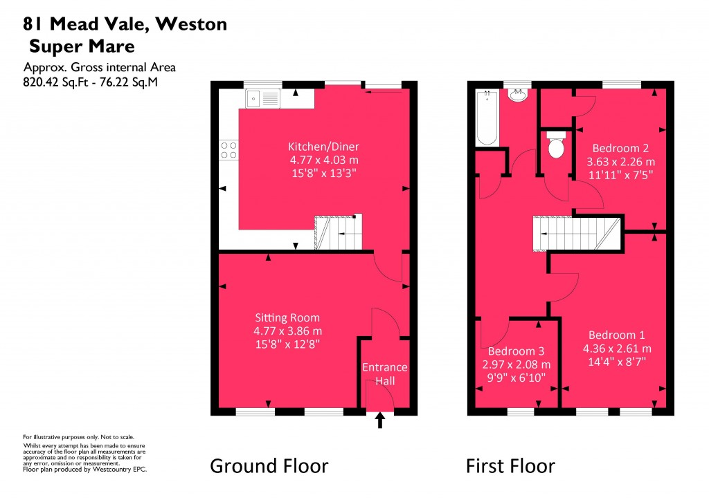 Floorplan for Mead Vale, Worle