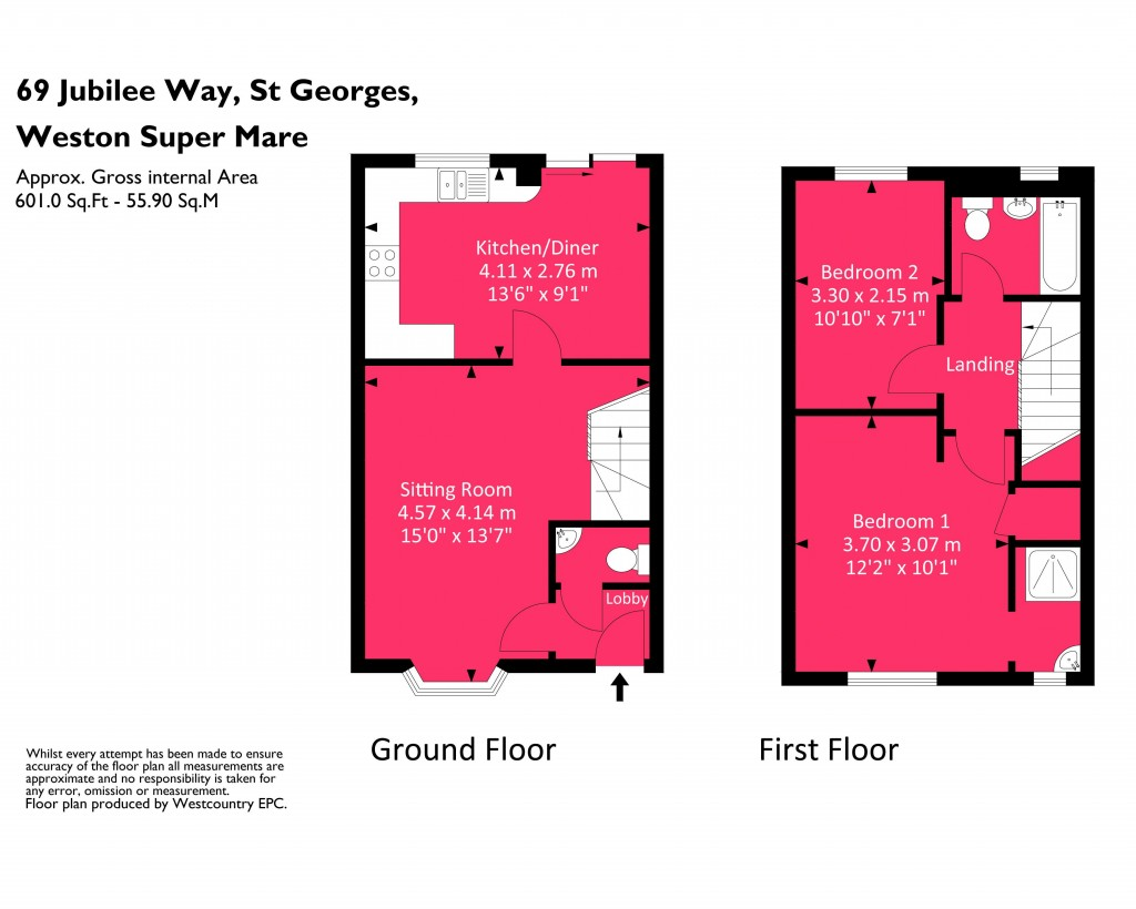 Floorplan for Jubilee Way, St Georges - GREAT FIRST TIME BUY